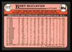1989 Topps Traded #11 T Ber Blyleven  Back Thumbnail