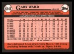 1989 Topps Traded #124 T Gary Ward  Back Thumbnail