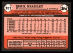 1989 Topps Traded #13 T Phil Bradley  Back Thumbnail