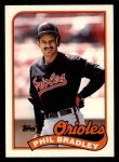 1989 Topps Traded #13 T Phil Bradley  Front Thumbnail