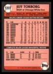1989 Topps Traded #120 T Jeff Torborg  Back Thumbnail