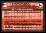 1989 Topps Traded #43 T Lee Guetterman  Back Thumbnail