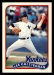 1989 Topps Traded #43 T Lee Guetterman  Front Thumbnail