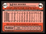 1989 Topps Traded #82 T Mike Moore  Back Thumbnail