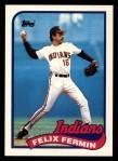 1989 Topps Traded #33 T Felix Fermin  Front Thumbnail