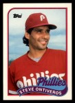 1989 Topps Traded #90 T Steve Ontiveros  Front Thumbnail