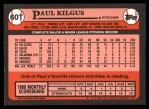 1989 Topps Traded #60 T Paul Kilgus  Back Thumbnail