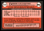 1989 Topps Traded #73 T Derek Lilliquis  Back Thumbnail