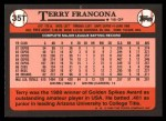 1989 Topps Traded #35 T Terry Francona  Back Thumbnail