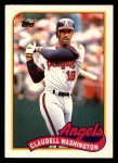 1989 Topps Traded #125 T Claudell Washington  Front Thumbnail