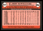 1989 Topps Traded #80 T Larry McWilliams  Back Thumbnail