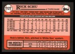 1989 Topps Traded #112 T Rick Schu  Back Thumbnail