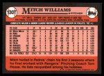 1989 Topps Traded #130 T Mitch Williams  Back Thumbnail