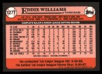 1989 Topps Traded #127 T Eddie Williams  Back Thumbnail
