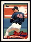 1989 Topps Traded #26 T John Dopson  Front Thumbnail