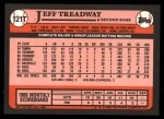 1989 Topps Traded #121 T Jeff Treadway  Back Thumbnail
