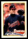 1989 Topps Traded #121 T Jeff Treadway  Front Thumbnail