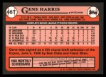 1989 Topps Traded #46 T Gene Harris  Back Thumbnail