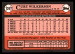 1989 Topps Traded #126 T Curt Wilkerson  Back Thumbnail