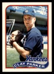 1989 Topps Traded #94 T Clay Parker  Front Thumbnail
