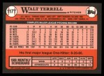 1989 Topps Traded #117 T Wal Terrell  Back Thumbnail