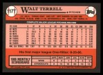 1989 Topps Traded #117 T Walt Terrell  Back Thumbnail
