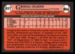 1989 Topps Traded #89 T Gregg Olson  Back Thumbnail