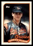 1989 Topps Traded #89 T Gregg Olson  Front Thumbnail