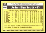 1990 Topps Traded #16 T John Burkett  Back Thumbnail