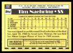1990 Topps Traded #79 T Tim Naehring  Back Thumbnail