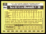 1990 Topps Traded #22 T Scott Coolbaugh  Back Thumbnail