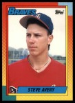 1990 Topps Traded #4 T Steve Avery  Front Thumbnail
