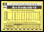 1990 Topps Traded #40 T Joe Hesketh  Back Thumbnail