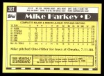 1990 Topps Traded #36 T Mike Harkey  Back Thumbnail