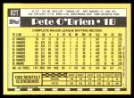 1990 Topps Traded #82 T Pete O'Brien  Back Thumbnail