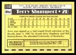 1990 Topps Traded #114 T Terry Shumpert  Back Thumbnail