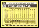 1990 Topps Traded #66 T Fred Manrique  Back Thumbnail