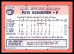 1991 Topps Traded #106 T Pete Schourek  Back Thumbnail