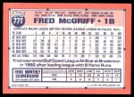 1991 Topps Traded #77 T Fred McGriff  Back Thumbnail