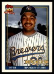 1991 Topps Traded #115 T Franklin Stubbs  Front Thumbnail