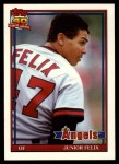 1991 Topps Traded #40 T Junior Felix  Front Thumbnail