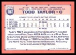1991 Topps Traded #116 T  -  Todd Taylor Team USA Back Thumbnail