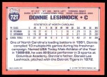 1991 Topps Traded #72 T  -  Donnie Leshnock Team USA Back Thumbnail