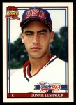 1991 Topps Traded #72 T  -  Donnie Leshnock Team USA Front Thumbnail