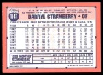 1991 Topps Traded #114 T Darryl Strawberry  Back Thumbnail
