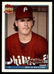 1991 Topps Traded #127 T Mitch Williams  Front Thumbnail