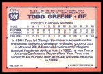 1991 Topps Traded #50 T  -  Todd Greene Team USA Back Thumbnail