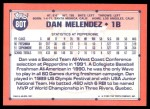 1991 Topps Traded #80 T  -  Dan Melendez Team USA Back Thumbnail