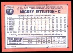 1991 Topps Traded #119 T Mickey Tettleton  Back Thumbnail