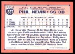 1991 Topps Traded #83 T  -  Phil Nevin Team USA Back Thumbnail